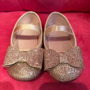 Glitter bow shoes!
